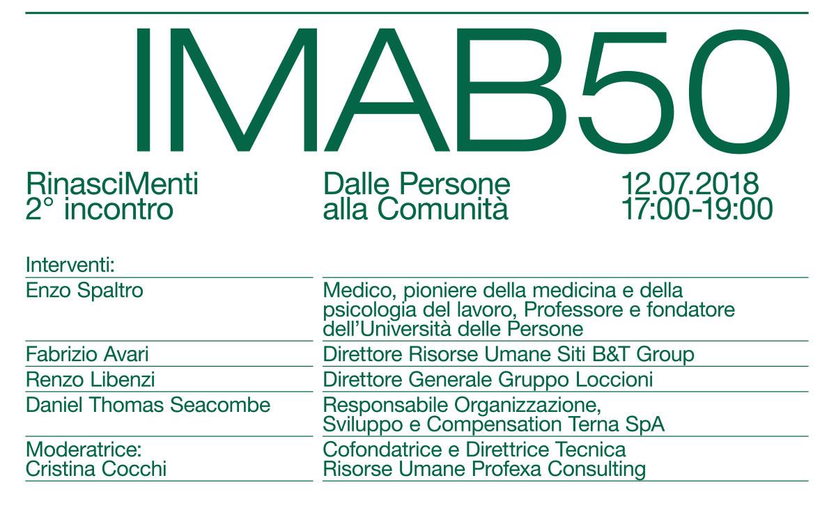 IMAB 50°: RinasciMenti 2- locandina
